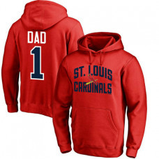 St. Louis Cardinals Father's Day Red #1 Dad Player Pullover Hoodie