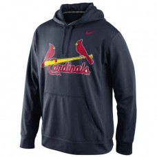 Cardinals Primary Logo Fleece Navy Pullover Hoodie