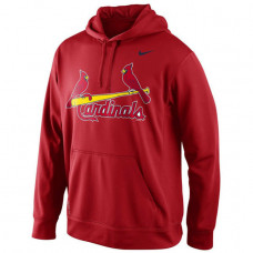 Cardinals Primary Logo Fleece Red Pullover Hoodie