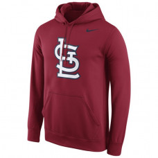 Cardinals Team Logo Fleece Crimson Pullover Hoodie