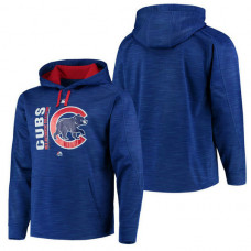 Cubs Authentic Collection Team Icon Streak Fleece Royal Pullover Hoodie