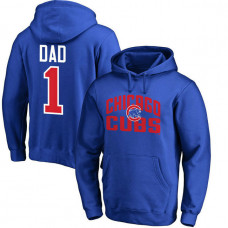 Chicago Cubs Father's Day Royal #1 Dad Player Pullover Hoodie