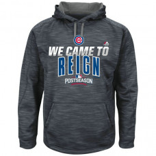 Cubs Graphite 2016 Postseason Came To Reign Hoodie