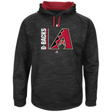 Arizona Diamondbacks Collection Team Icon Streak Fleece Black Pullover Hoodie