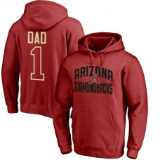 Arizona Diamondbacks Father's Day Red #1 Dad Player Pullover Hoodie