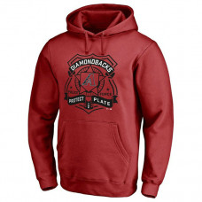 Diamondbacks Police Badge Red Pullover Hoodie