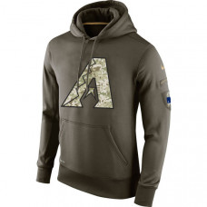 Arizona Diamondbacks Salute To Service Olive Hoodie