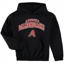 YOUTH - Diamondbacks Stitches Team Fleece Black Pullover Hoodie