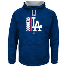 Dodgers Authentic Collection Team Icon Streak Fleece Royal Pullover Hoodie