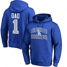 Los Angeles Dodgers Father's Day Royal #1 Dad Player Pullover Hoodie