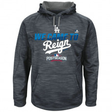 Dodgers Graphite 2016 Postseason Came To Reign Hoodie