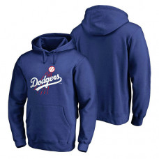 Los Angeles Dodgers Logo Cooperstown Collection Huntington Pullover Royal Hoodie