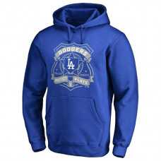 Dodgers Police Badge Royal Pullover Hoodie