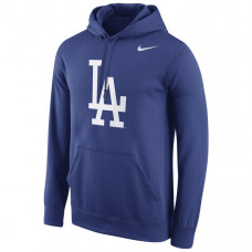Dodgers Primary Logo Fleece Royal Pullover Hoodie