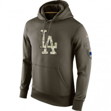 Los Angeles Dodgers Salute To Service Olive Hoodie