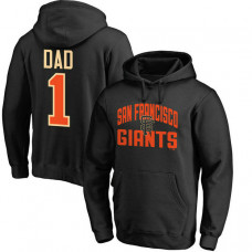 San Francisco Giants Father's Day Black #1 Dad Player Pullover Hoodie