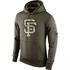 San Francisco Giants Salute To Service Olive Hoodie