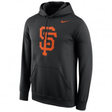 Giants Stitches Fastball Fleece Black Pullover Hoodie