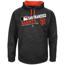 Giants Team Choice Streak Black Authentic Collection Hoodie