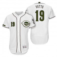 Cincinnati Reds #19 Joey Votto White Alternate 2018 Authentic Collection Player Flex Base Jersey