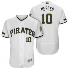 Pittsburgh Pirates #10 Jordy Mercer White 2018 Home Alternate Authentic Collection Flex Base Jersey