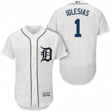 Detroit Tigers #1 Jose Iglesias White 2018 Home Authentic Collection Flex Base Jersey