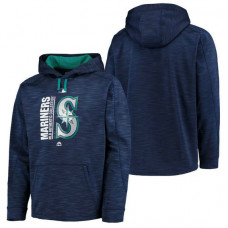 Mariners Authentic Collection Team Icon Streak Fleece Navy Pullover Hoodie