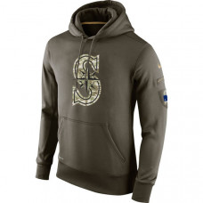 Seattle Mariners Salute To Service Olive Hoodie