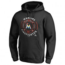 Marlins Firefighter Black Pullover Hoodie