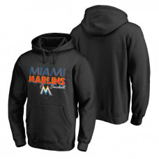 Miami Marlins Hometown Collection Marlins Baseball Pullover Black Hoodie
