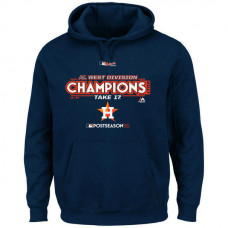 Houston Astros 2017 AL West Division Champions Locker Room Pullover Navy Hoodie