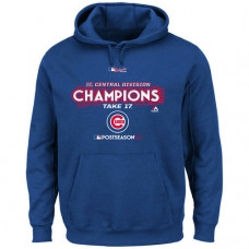 Chicago Cubs 2017 NL Central Division Champions Locker Room Pullover Royal Hoodie