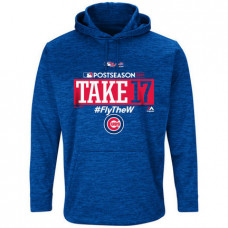 Chicago Cubs 2017 Postseason Authentic Collection Ultra Streak Fleece Pullover Royal Hoodie