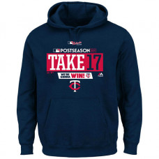 Minnesota Twins 2017 Postseason Authentic Collection Big & Tall Pullover Navy Hoodie