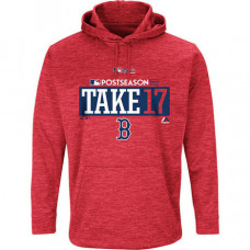 Boston Red Sox 2017 Postseason Authentic Collection Ultra Streak Fleece Pullover Red Hoodie