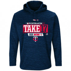 Minnesota Twins 2017 Postseason Authentic Collection Ultra Streak Fleece Pullover Navy Hoodie