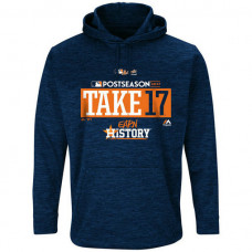 Houston Astros 2017 Postseason Authentic Participant Ultra Streak Fleece Navy Hoodie