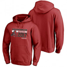 Arizona Diamondbacks 2017 Postseason Double Play Pullover Red Hoodie