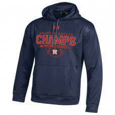 Houston Astros 2017 World Series Champions Armour Fleece Pullover Navy Hoodie