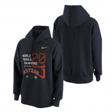 Houston Astros 2017 World Series Champions Celebration Pullover Navy Hoodie