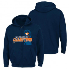 Houston Astros 2017 World Series Champions Favorite Full-Zip Navy Hoodie