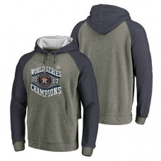 Houston Astros 2017 World Series Champions High Heat Tri-Blend Pullover Heather Gray Hoodie