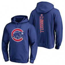 Chicago Cubs #27 Addison Russell Backer Pullover Royal Hoodie