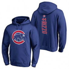Chicago Cubs #44 Anthony Rizzo Backer Pullover Royal Hoodie