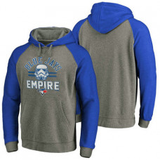 Toronto Blue Jays Heather Gray Star Wars Empire hoodie
