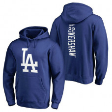 Los Angeles Dodgers #22 Clayton Kershaw Backer Pullover Royal Hoodie