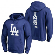 Los Angeles Dodgers #5 Corey Seager Backer Pullover Royal Hoodie