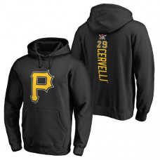 Pittsburgh Pirates #29 Francisco Cervelli Backer Pullover Black Hoodie