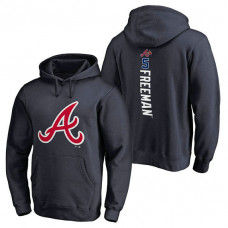Atlanta Braves #5 Freddie Freeman Backer Pullover Navy Hoodie