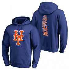 New York Mets #48 Jacob deGrom Backer Pullover Royal Hoodie